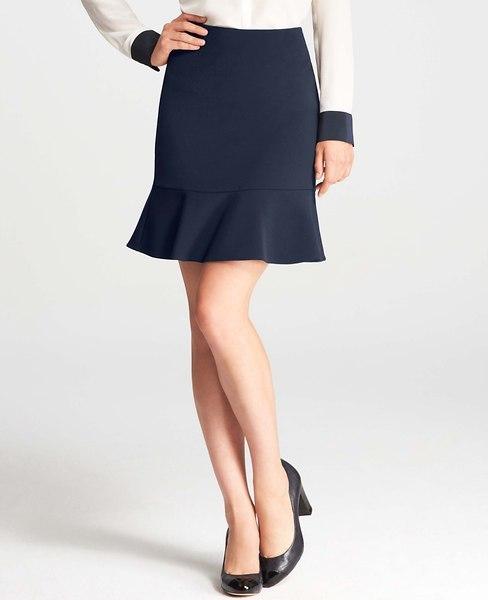 Ann Taylor Luxe Twill Flounce Skirt