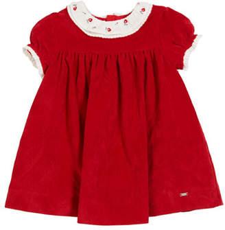 Mayoral Cap-Sleeve Polka-Dot A-Line Dress, Size 3-24 Months