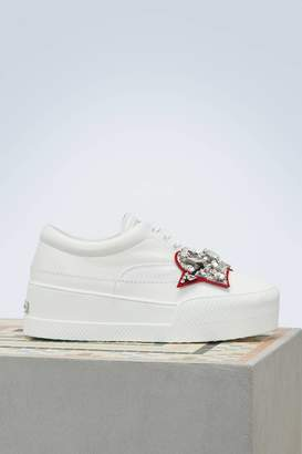 Miu Miu Jewel heart sneakers