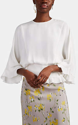 Derek Lam Women's Silk Crêpe De Chine Blouse - White