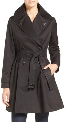 Women's Cece 'Sarah' Belted Skirted Double Breasted Trench $158 thestylecure.com