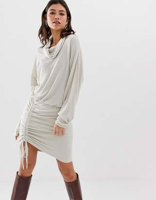 Free People Sundown cowl neck knit dress