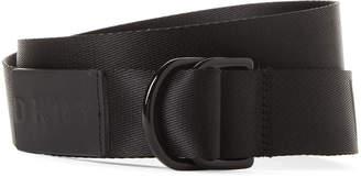 DKNY Web Ring Logo Belt