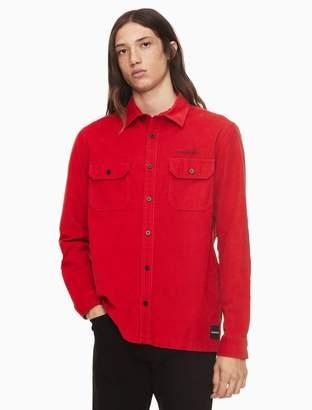 Calvin Klein corduroy long sleeve overshirt