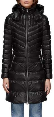 Mackage Lara Fitted Down-Fill Puffer Coat w/ Detachable Hood