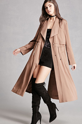 FOREVER 21+ Drawstring Trench Coat $75 thestylecure.com