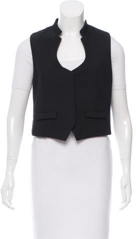 Saint Laurent Yves Saint Laurent Wool Button-Up Vest
