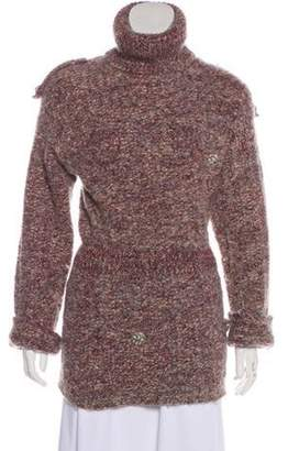 Chanel Alpaca-Blend Turtleneck Sweater Red Alpaca-Blend Turtleneck Sweater