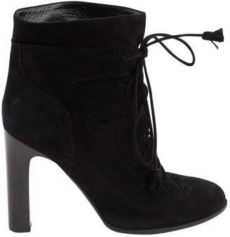 Hermes Black Suede Ankle boots