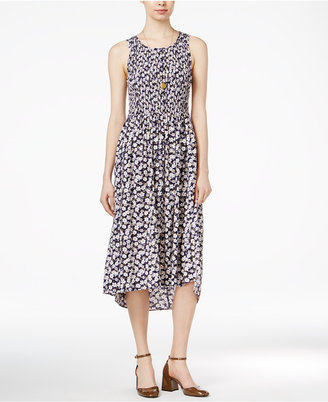 Maison Jules Printed Smocked Dress, Only at Macy's $89.50 thestylecure.com