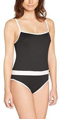 Huit Women's Smarty Crop Top Plain Swimsuit