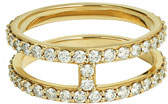 Lana Flawless Double-Stack Band Ring with Diamonds, Size 7