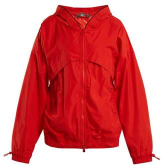adidas by Stella McCartney Hooded Nylon Windbreaker Jacket - Womens - Red