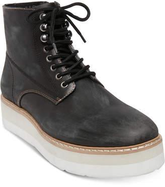 Steve Madden (スティーブ マデン) - Self Made by Steve Madden Men Sayne Platform Leather Boots Men Shoes