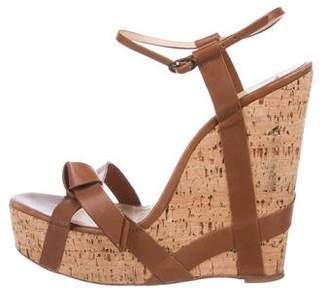 cd5654fe833c Christian Louboutin Brown Wedge Women s Sandals - ShopStyle