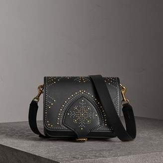 Burberry The Square Satchel in Riveted Leather