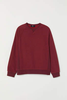 H&M Loose Fit Sweatshirt - Red