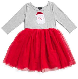 Little Girls Santa Claus Tutu Dress