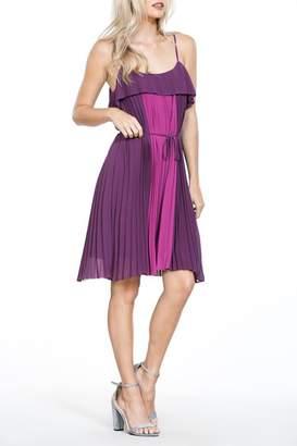 The Vintage Valet Purple Pleated Dress