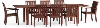 Pottery Barn Chatham Extra-Large Extending Table & Chair Dining Set, Honey