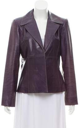 Ellen Tracy Casual Leather Jacket