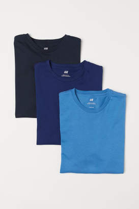 H&M 3-pack T-shirts Regular fit - Blue