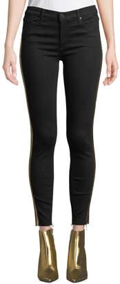 Black Orchid Noah Ankle Fray Skinny Jeans w/ Gold Racer Stripes