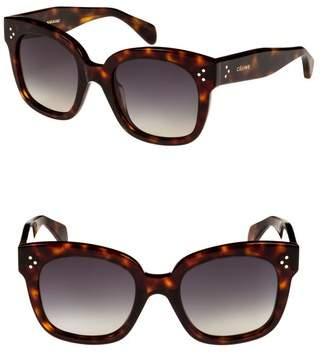 Celine 54mm Square Sunglasses