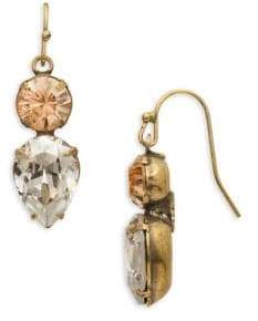 Sorrelli Washed Waterfront Brilliant Swarovski Crystal Teardrop Earrings