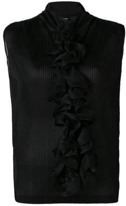 Giorgio Armani (ジョルジョ アルマーニ) - Giorgio Armani ruffle-embellished blouse