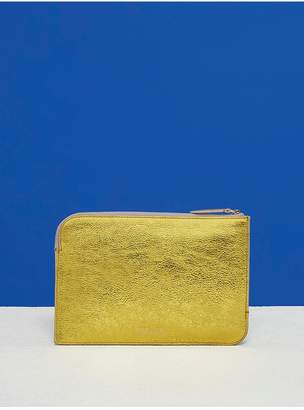 Diane von Furstenberg Metallic Medium Zip Pouch