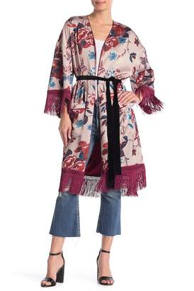 L'Atiste Fringe Trim Kimono