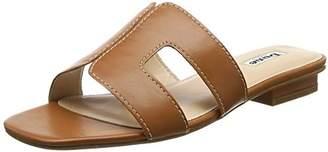 Dune Women's Loupe Open Toe Sandals, Brown Tan-Leather, 7 (40 EU)