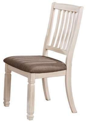 Furniture of America Rachel I Rustic Fabric Padded Dining Chair