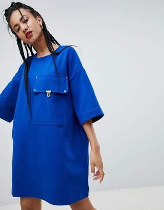 Love Moschino Giant Pocket T-Shirt Dress