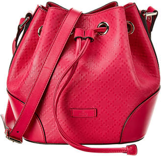 Gucci Pink Diamante Canvas & Leather Small Bucket Bag