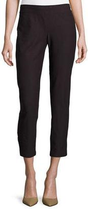 Eileen Fisher Washable Stretch-Crepe Ankle Pants, Clove $168 thestylecure.com