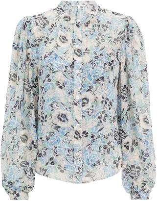 Veronica Beard Ashlynn Silk Floral Blouse
