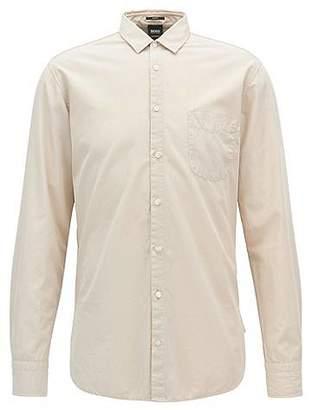 HUGO BOSS Slim-fit shirt in dobby cotton poplin