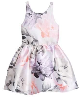 Zunie Floral Print Party Dress