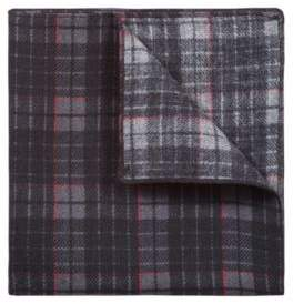 HUGO Boss Check-print pocket square in pure wool One Size Red