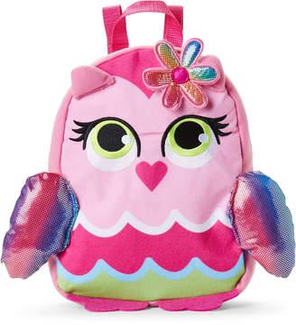 Confetti Kids Girls 4-6x) Pink Owl Backpack