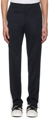 Valentino Navy and White Cotton Trousers