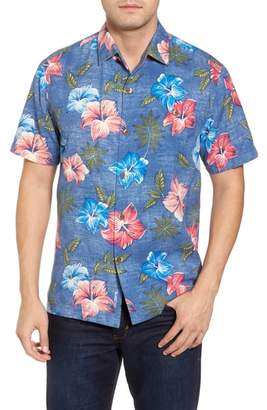 Tommy Bahama Hibiscus in the Mist Floral Silk Blend Sport Shirt