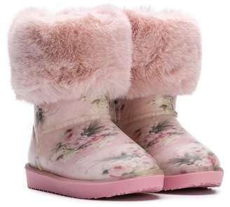 MonnaLisa faux fur-lined boots
