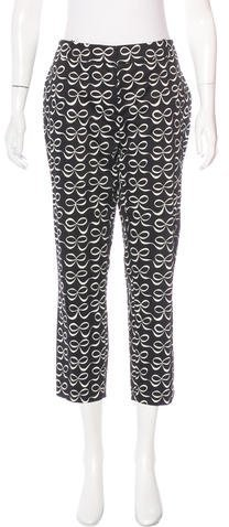 Kate Spade New York Printed Straight-Leg Pants