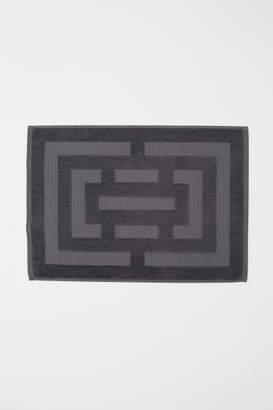 H&M Jacquard-weave Bath Mat - Gray