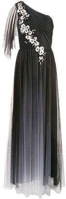 Marchesa long one-shoulder dress