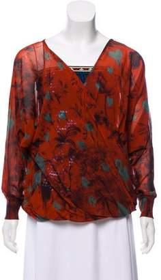 Jean Paul Gaultier Soleil Printed Sequined Top