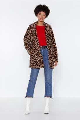Nasty Gal On the Spot Leopard Jacket